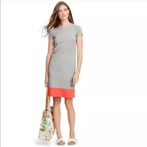 Boden Colorblock Midi Shirt dress shift gray